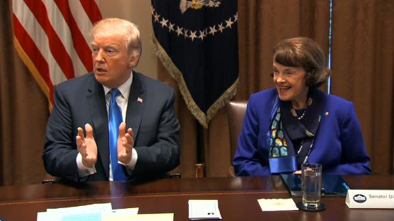 dianne feinstein trump meeting on guns