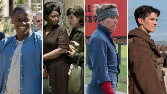 Get Out; The Shape of Water; Three Billboards Outside Ebbing, Missouri; Dunkirk