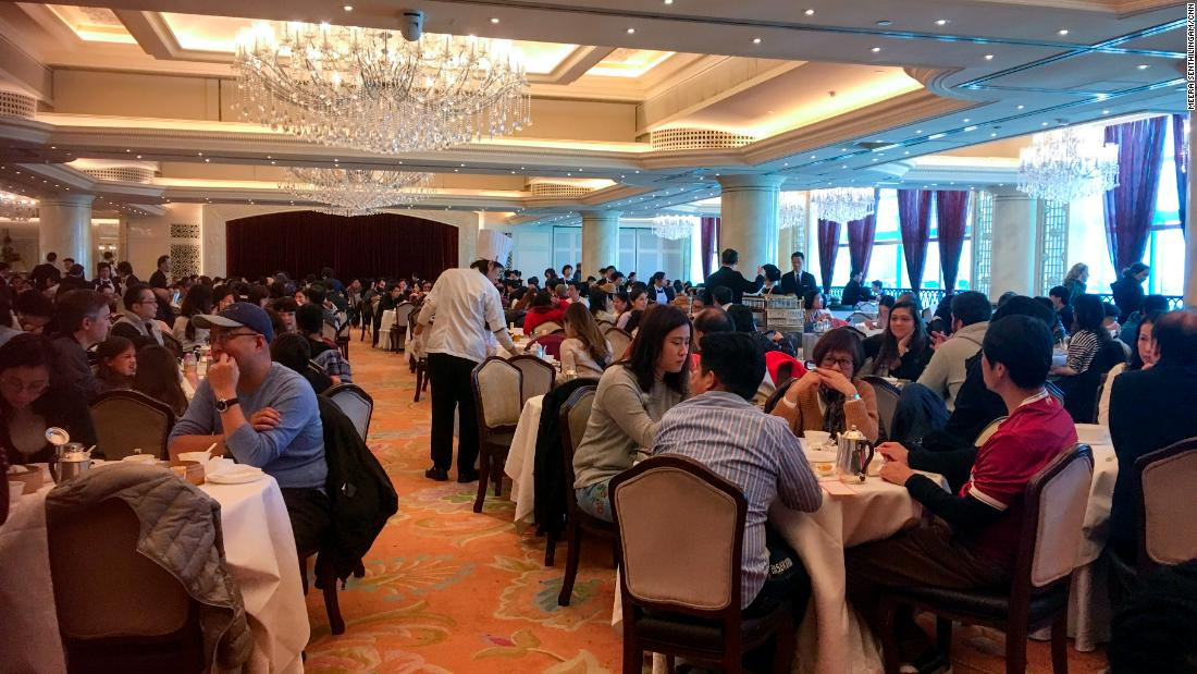 Families dine at Maxim's palace in City Hall. On Sunday afternoons, large families often venture out together for dim sum. The close familial networks of Asian cultures in general is well-known, providing both financial and social support as people get older.