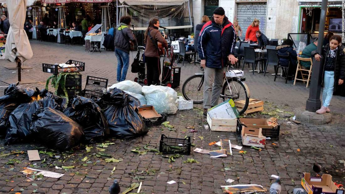 Rome has been suffering from a chronic rubbish collection issue since Christmas Eve.