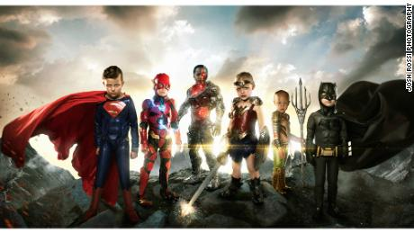 Digital artist Josh Rossi photographed six children with life-threatening illnesses and disabilities as members of the Justice League.