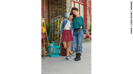 "Lilan Bowden, right, plays Andi's mother on the show ""Andi Mack."""