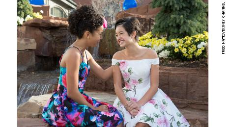 "Sofia Wylie, left, and Peyton Elizabeth Lee of ""Andi Mack"" on Disney Channel."