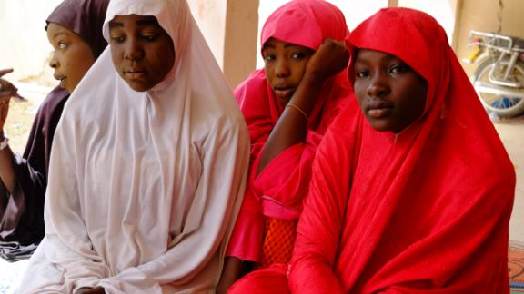 Some of the students escaped from the Boko Haram raid on their school last month in Dapchi, Nigeria.
