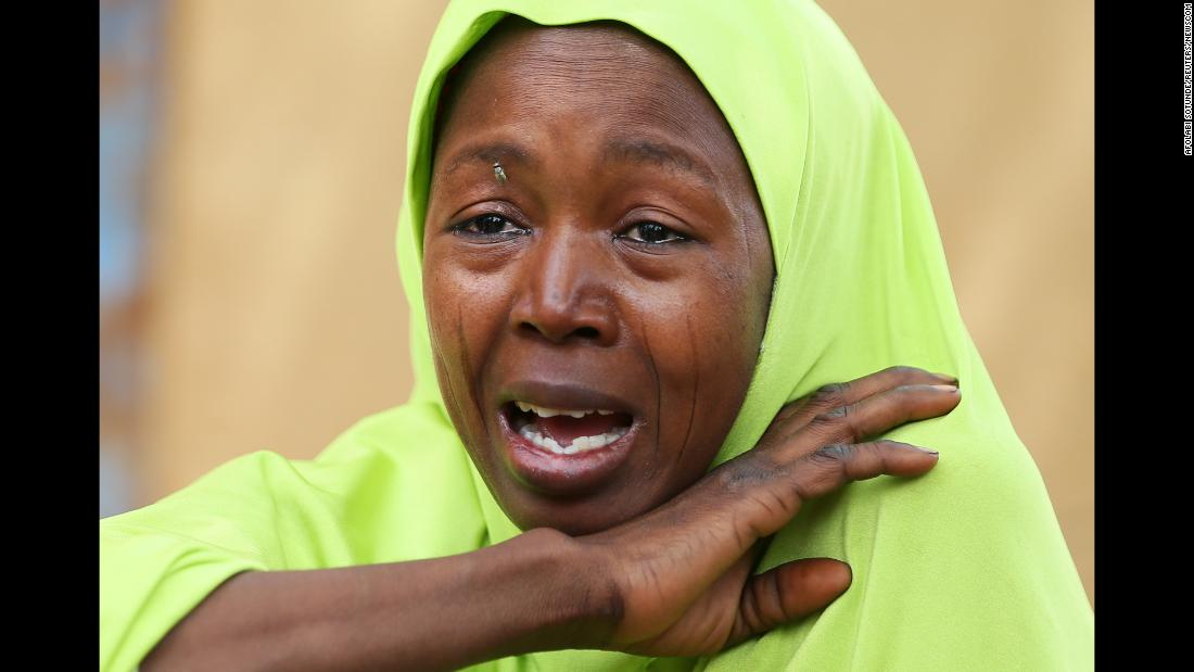 "A woman related to an abducted schoolgirl cries in Dapchi, Nigeria, on Friday, February 23. Boko Haram militants <a href=""https://www.cnn.com/2018/03/01/africa/dapchi-nigeria-boko-haram-intl/index.html"" target=""_blank"">stormed a Dapchi school last week</a> and took 110 girls."
