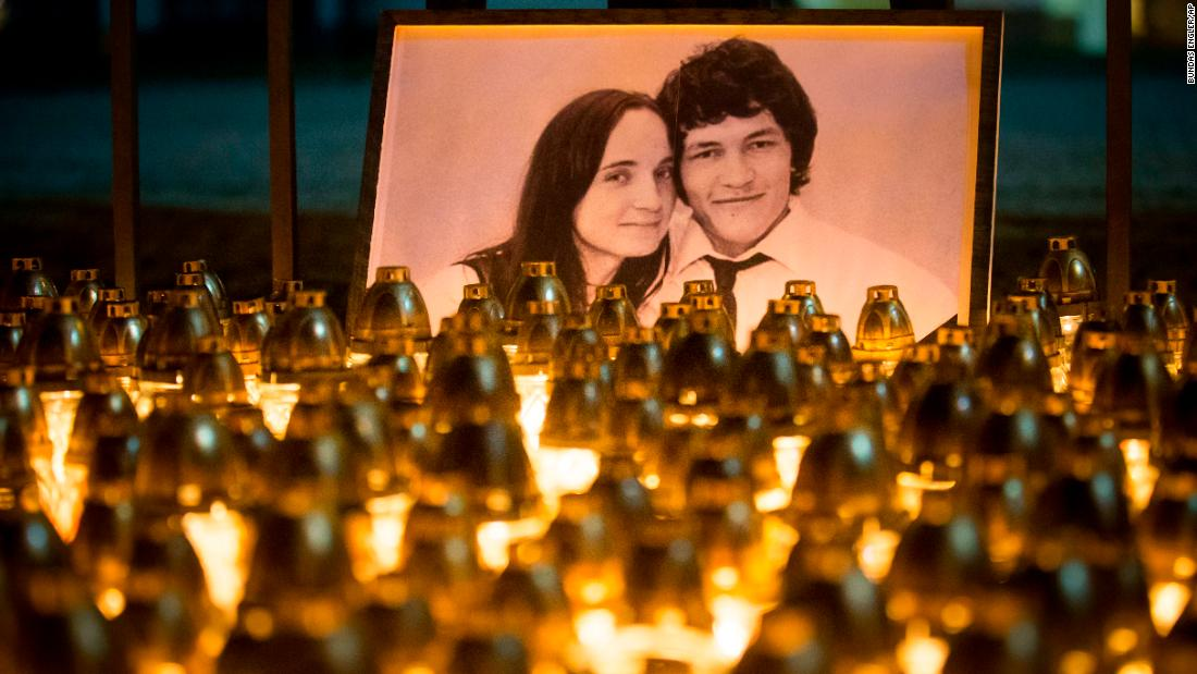 "Light tributes are placed in Bratislava, Slovakia, to remember investigative journalist Jan Kuciak and his fiancee Martina Kusnirova on Wednesday, February 28. They had been shot to death at Kuciak's apartment, police said. Slovakian Prime Minister Robert Fico<a href=""https://www.cnn.com/2018/02/28/europe/jan-kuciak-reward-mafia-slovak-journalist-intl/index.html"" target=""_blank""> is offering a reward</a> of 1 million euros ($1.2 million US) for information about Kuciak's death. The head of the Slovak police, Tibor Gaspar, said it was likely Kuciak's murder was connected to his work."