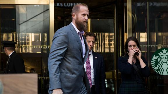 NEW YORK, NY - NOVEMBER 16: (L to R) Brad Parscale, digital director for the Trump campaign, and Eli Miller, chief operating officer for the Trump campaign, exit Trump Tower, November 16, 2016 in New York City. Trump is in the process of choosing his presidential cabinet as he transitions from a candidate to the president-elect. (Photo by Drew Angerer/Getty Images)