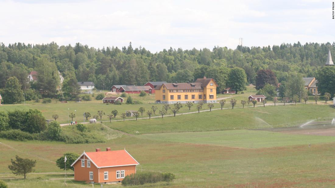 Bastøy Prison's inmates live in brightly-painted cottages, grow fruit and vegetables on the prison's farm, and ride horses, fish and play tennis in their leisure time.