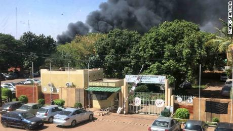 """Explosion at Burkina Faso's army headquarters in the capital Ougadougou"" Malick Tapsoba told CNN."