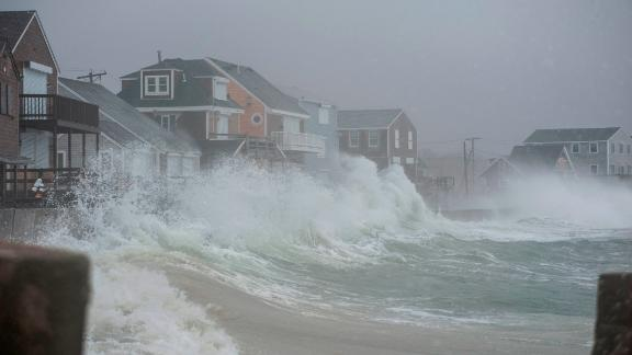 Coastal areas in New England are bracing for the high tide that is scheduled to be at it