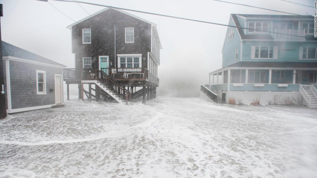 Water crashes into homes in Scituate on March 2.