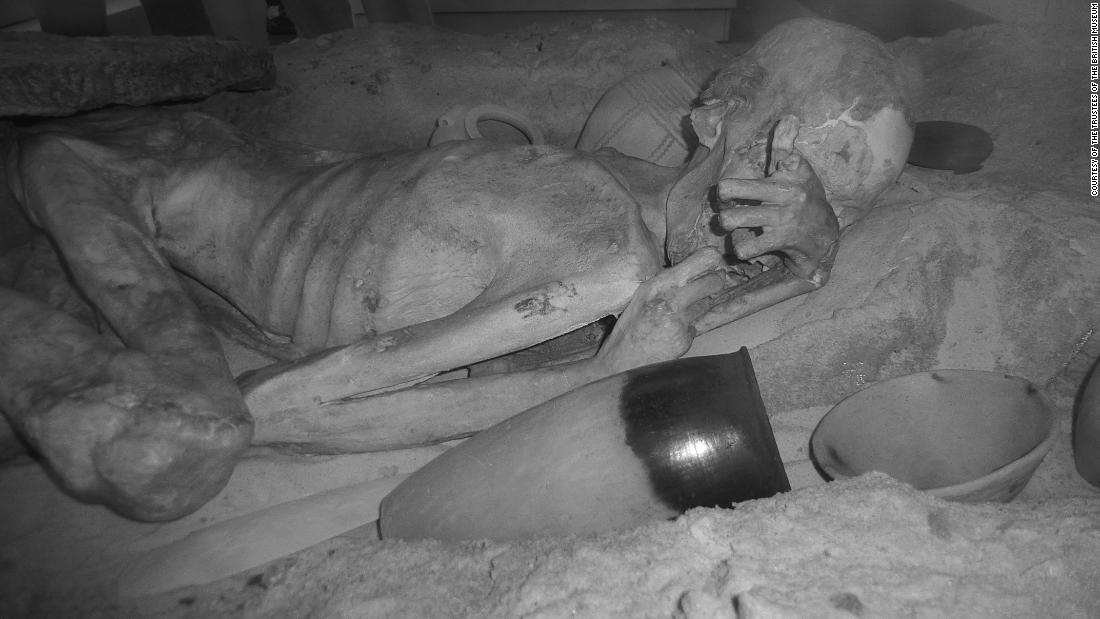 This mummy is one of The British Museum's most treasured objects, and has been on display for 100 years. He is remarkably well-preserved, having been buried in hot desert conditions.