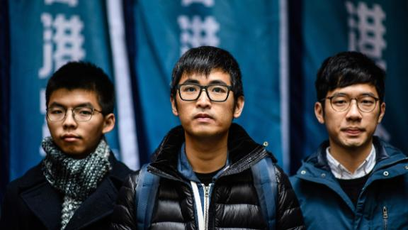 Prominent Hong Kong activists Joshua Wong, Alex Chow and Nathan Law avoided jail in February but warned a court decision risked greater prison terms for future protests.
