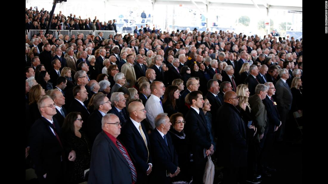 More than 2,000 people attended the private funeral service in Charlotte, North Carolina. It was also streamed online.