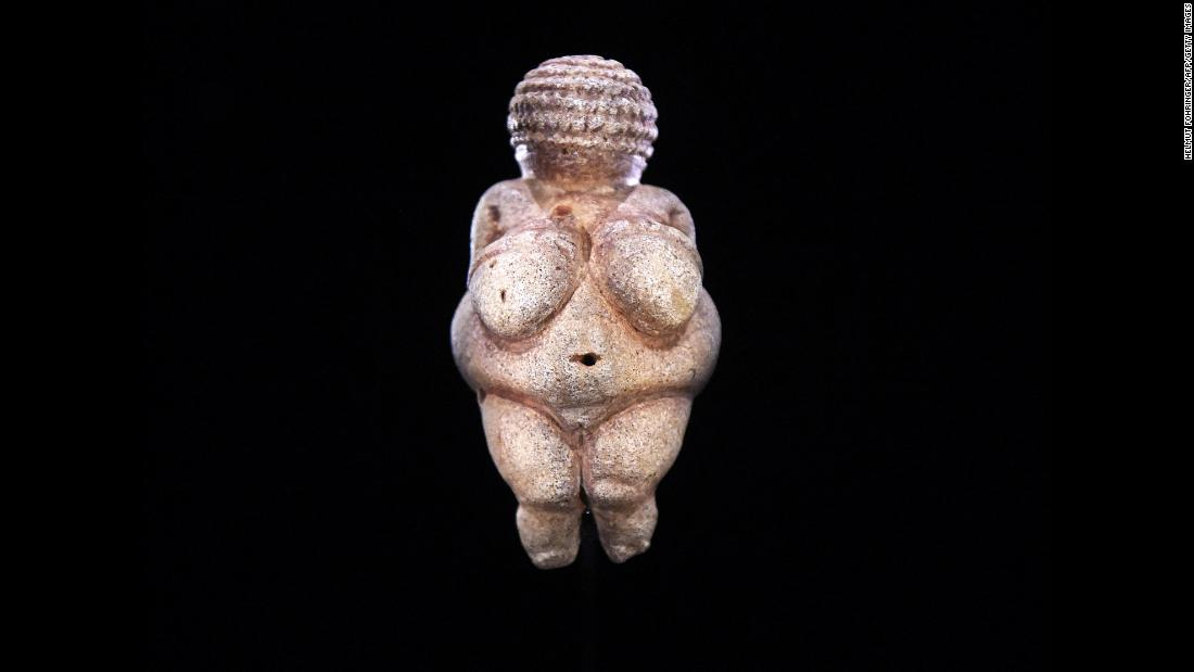 "The ""Venus of Willendorf"" figurine dates to about 25,000 BC and is considered a masterpiece of the Paleolithic era. Some historians point to the 4-inch statuette as a representation of idealized female beauty at the time."