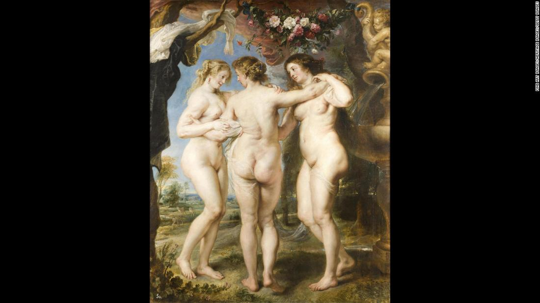 """The Three Graces"" by artist Peter Paul Rubens, circa 1635. The oil painting is an example of how the painter often depicted women with curvy, full-figured bodies."