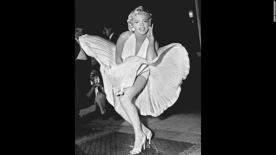 "Actress Marilyn Monroe in 1954, while filming ""The Seven Year Itch."" She became one of the world's most adored sex symbols."