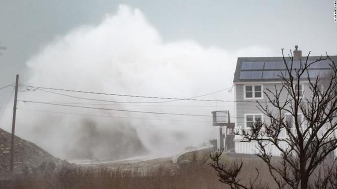 The storm brings high waves and flooding to Scituate, a coastal Massachusetts town between Boston and Plymouth.