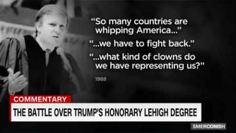 Comment: The battle over Trump's honorary Lehigh degree_00003815