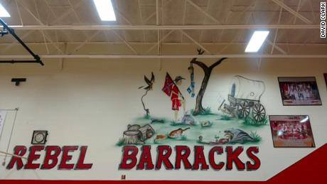 This mural has been removed from the South Cumberland Elementary School in Tennessee.