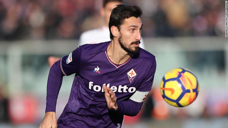 Davide Astori, pictured in December during a match against Genoa in Florence, Italy.