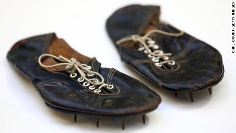 Bannister's running shoes from 1954