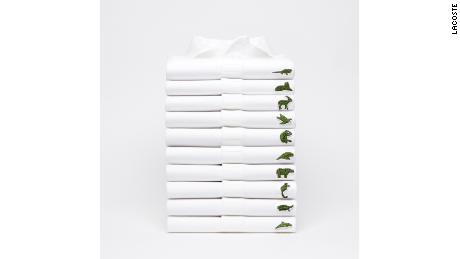 Lacoste's limited-edition endangered species polo shirts.