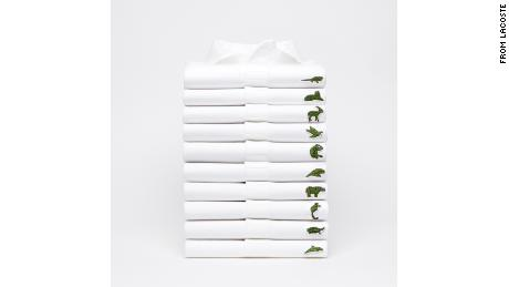 Lacoste adopts temporary logo to help endangered species.
