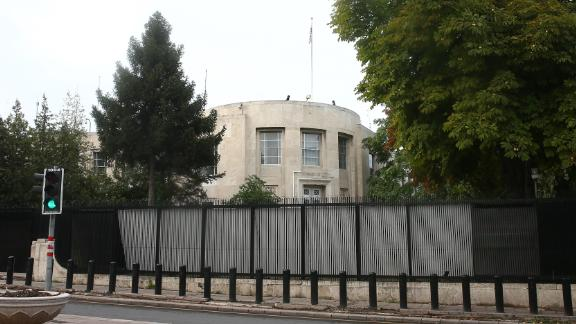 The US Embassy in Turkey.