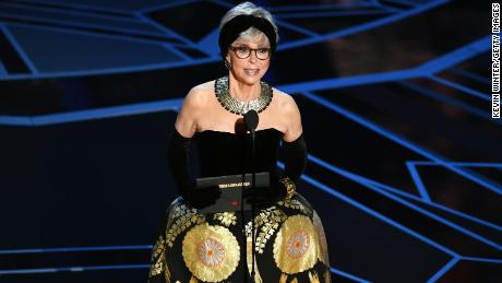 HOLLYWOOD, CA - MARCH 04:  Actor Rita Moreno speaks onstage during the 90th Annual Academy Awards at the Dolby Theatre at Hollywood & Highland Center on March 4, 2018 in Hollywood, California.  (Photo by Kevin Winter/Getty Images)