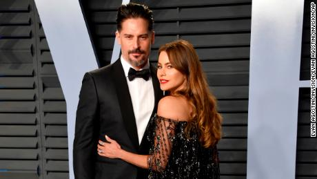 Joe Manganiello, left, and Sofia Vergara arrive at the Vanity Fair Oscar Party on Sunday, March 4, 2018, in Beverly Hills, Calif. (Photo by Evan Agostini/Invision/AP)