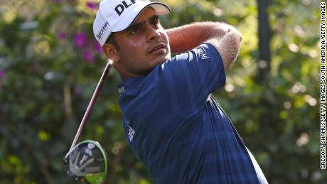 MEXICO CITY, MEXICO - MARCH 04:  Shubhankar Sharma of India plays his shot from the 14th tee during the final round of World Golf Championships-Mexico Championship at Club De Golf Chapultepec on March 4, 2018 in Mexico City, Mexico. (Photo by Gregory Shamus/Getty Images)