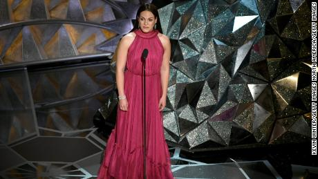 HOLLYWOOD, CA - MARCH 04:  Actor Daniela Vega speaks onstage during the 90th Annual Academy Awards at the Dolby Theatre at Hollywood & Highland Center on March 4, 2018 in Hollywood, California.  (Photo by Kevin Winter/Getty Images)