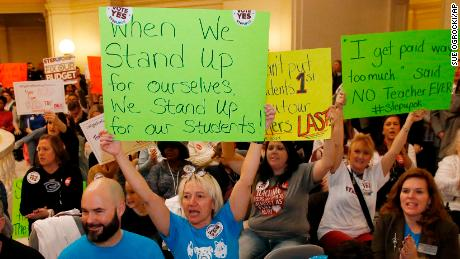 Oklahoma teachers consider a strike after state House fails to fund raises