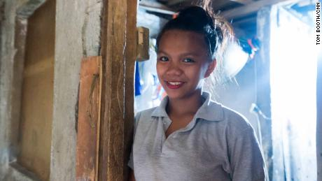 """I want to be able to take good care of my children,"" Hazel Encarnacion, 16, says."