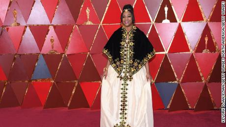 Tiffany Haddish attends the 90th Annual Academy Awards in Hollywood in traditional Eritrean attire.