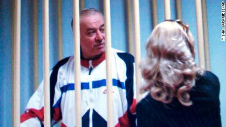 Sergei Skripal, here in a Moscow courtroom in 2006, was convicted in Russia of spying for Britain.