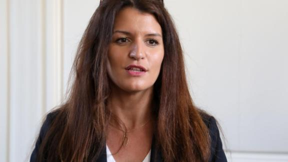 French Equality Minister Marlene Schiappa, seen speaking at Versailles, near Paris, on February 16, 2018.