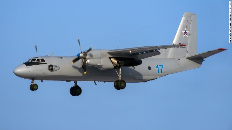 The Russian transport plane, an Antonov An-26 (file photo), was carrying 39 people on board.