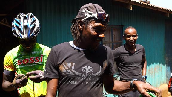 """Kinjaj at """"Safari Simbaz,"""" a training camp for the next generation of Kenyan cycling stars."""