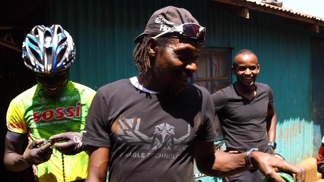 "Kinjaj at ""Safari Simbaz,"" a training camp for the next generation of Kenyan cycling stars."