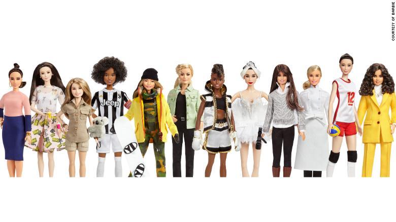 180306114707 03 new barbies 0306 exlarge 169 Barbie unveils dolls based on Amelia Earhart, Frida Kahlo, Katherine Johnson and Chloe Kim