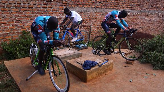 """Four-time Tour de France winner Chris Froome in his youth trained at the  """"Safari Simbaz"""" camp."""