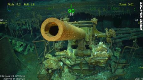 Underwater images of the wreckage are courtesy of Paul G Allen