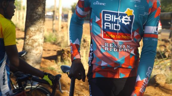 """""""Africa is a hard place for cyclists and especially as a platform for professional cycling but we're getting there slowly,"""" said David Kinjah."""