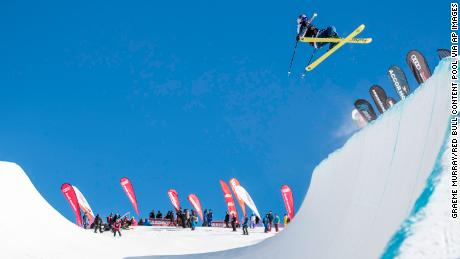 Kelly Sildaru, pictured at last year's Winter Games NZ, is increasingly proving her mettle in halfpipe as well as slopestyle.