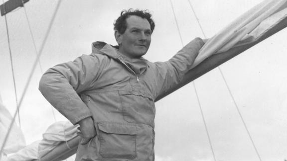 """Donald Crowhurst, a father of four with a dream and a rickety sailing boat, disappeared during the 1968 Golden Globe race. His tale has inspired two movies, including Hollywood blockbuster """"The Mercy."""""""