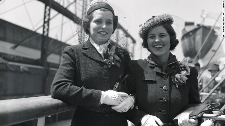 Eunice Kennedy, left, and her sister Rosemary Kennedy in 1938.