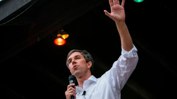 AUSTIN, TX - APRIL 1: Rep. Beto O'Rourke (D-TX) speaks to a group of supporters at Scholz Garten on April 1, 2017 in Austin, Texas.   O'Rourke announced his plan to run for Ted Cruz's Senate seat on Friday and launched his campaign with a four-city tour of Texas. (Photo by Drew Anthony Smith/Getty Images)