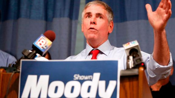 GORHAM, ME - NOVEMBER 21: Shawn Moody, owner of Moody's Collision Centers, announced his candidacy for Maine governor during a noon press conference on Tuesday at his Gorham offices. (Staff photo by Ben McCanna/Portland Press Herald via Getty Images)